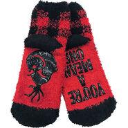 Child Grinch Buffalo Plaid Slipper Socks