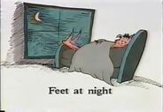 Feet at night
