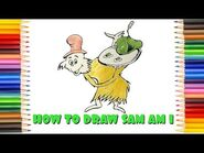 """How to draw Sam-I-Am from """"Green eggs & ham"""" (Dr"""