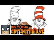 How to Draw Cat in the Hat (Art Tutorial)