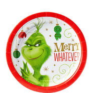 Grinch Merry Whatever Dessert Plate