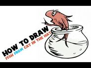 How to Draw the Fish from Cat in the Hat by Dr