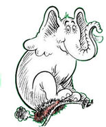 Horton on a nest