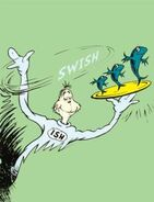 Theodor-dr-seuss-geisel-one-fish-two-fish-red-fish-blue-fish-on-green u-L-F56UBY0