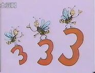 Bees on threes