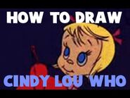 How to Draw Cindy Lou Who from Dr