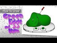 How to Draw Green Eggs and Ham by Dr Seuss 🎨 Cat and the Hat🎨 Easy 🎨Step by Step 🎨 Frazier Tales