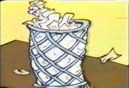 Trash in a basket