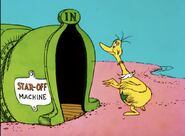 A Sneetch going to the Star Off Machine