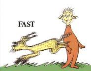 A animal runs fast2