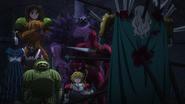 Sept Péchés Capitaux trouvant le cadavre de Zaratras