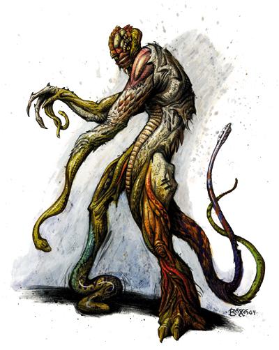 Golem z ciał węży