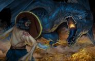 Jester vs the Blue Dragon - APixelTaurus