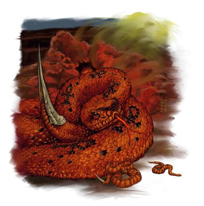 Płomienny wąż