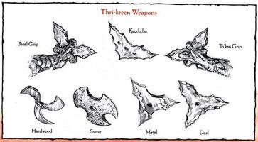 Thri-kreen weapons