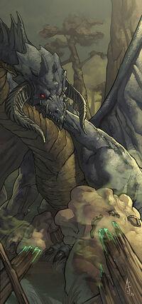 Black dragon by njoo