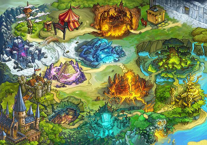 Interaktive Dungeon-Karte