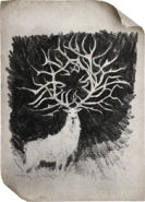 Alina's sketch of the stag (Netflix)