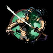 Ninja girl golden katana