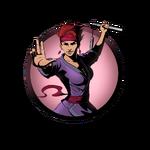 Girl nunchaku