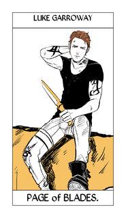 CJ Tarot espadas, Sota 2
