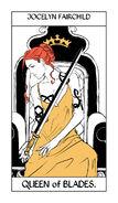 CJ Tarot espadas, Reina