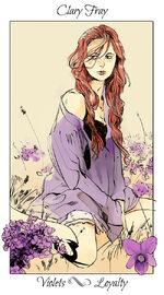 Virágos kártya Clary