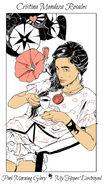 Virágos kártya Cristina
