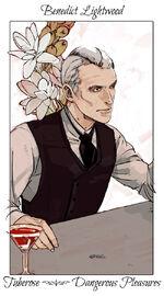 Virágos kártya Benedict