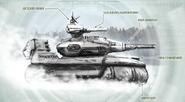Aztechnology Camaxtli Hovertank (Shadowrun, Miltech Spec)