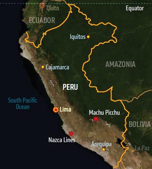 Peru, map (Shadowrun Sourcebook, Sixth World Almanac).png