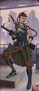 Wuji Crew, Asian female elf pirate (Shadowrun Sourcebook, Street Lethal)
