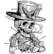Voodoo doll drawing (Internet)