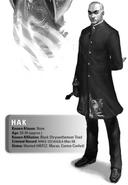 Hak, Black Chrysanthemum from Shadowrun Sourcebook, Ghost Cartels