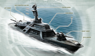 Aztechnology Atlacamani-Class Corvette (Shadowrun Sourcebook, Miltech Spec)