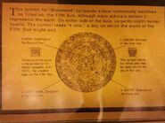 Aztec calendar - rewers