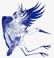 Blue Crane (Victor Aguirre, pngtree.com)