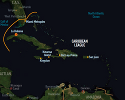 Caribbean League, map from Shadowrun Sourcebook, Sixth World Almanac.png