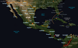 Aztlan, map from Shadowrun Sourcebook, Sixth World Almanac.png