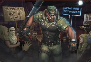 Troll Security Guard from Shadowrun Sourcebook, The Complete Trog.png