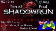 Shadowrun Tabletop - W1P2 - Fighting Food