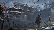 Ashina Castle Gate Concept Art