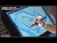Hiroyuki Takei (Shaman King) dibujando para Le Cyber Festival de l'Animation