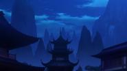 Замок Тао ночью SKPR