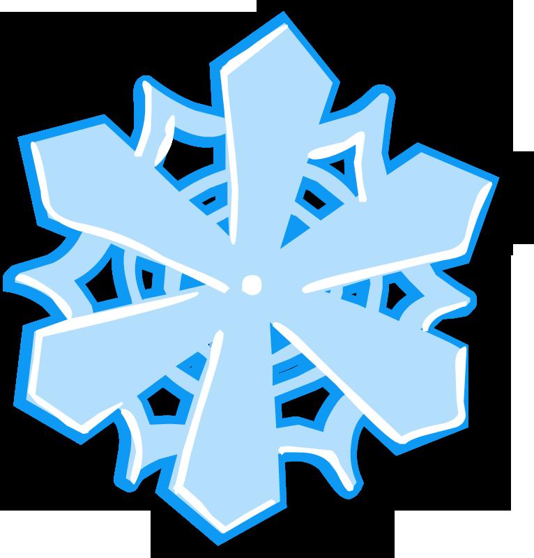 Большая снежинка