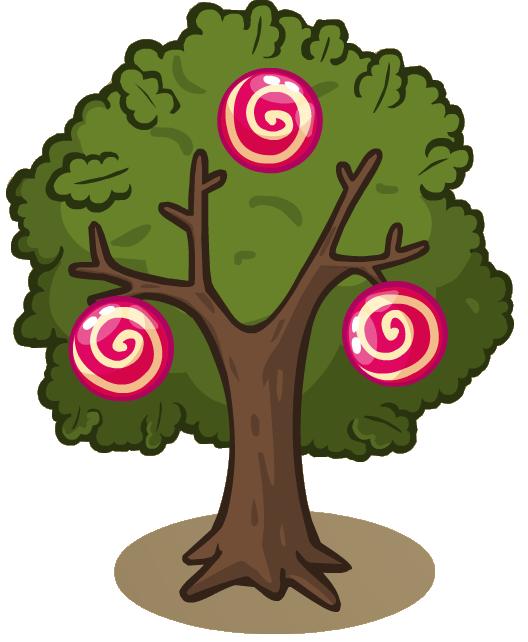 Дерево в домик