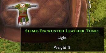 Slime-encrusted Leather Leggings