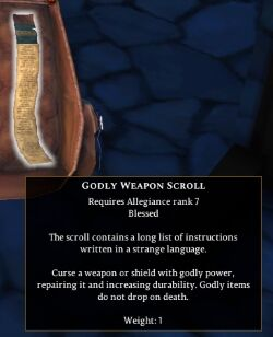 Godly Weapon Scroll