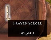 Frayed Scroll