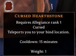 Cursed Hearthstone